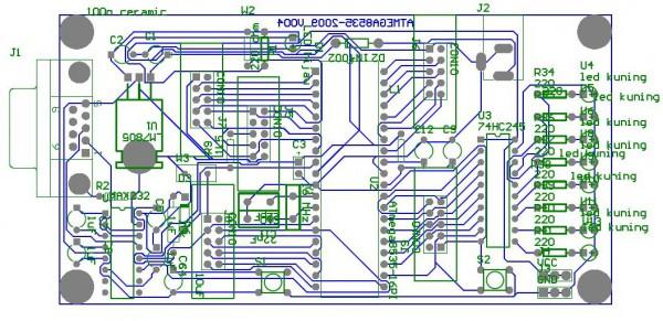 Layout PCB ATMega