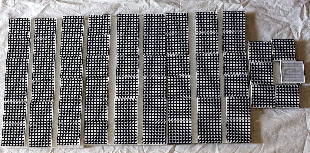 Timbunan LED Matrix 8x8