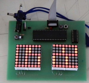LED Matrix tanpa transistor maupun resistor