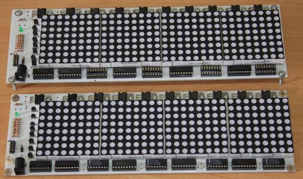 Foto Rangkaian LED Matrix