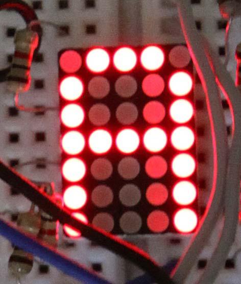 Ghosting atau bayangan pada LED matrix 5x7 karena masalah software