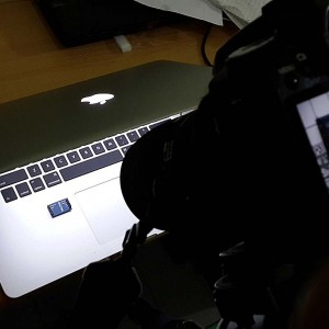 Shooting MMA7361 module with a notebook as lightbox and background