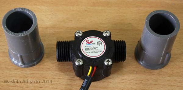 Water flow sensor dengan socket 1/2 inch tidak terpasang