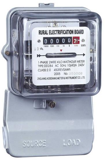 Meteran listrik KWH-meter yang mengukur energi dengan satuan kWh