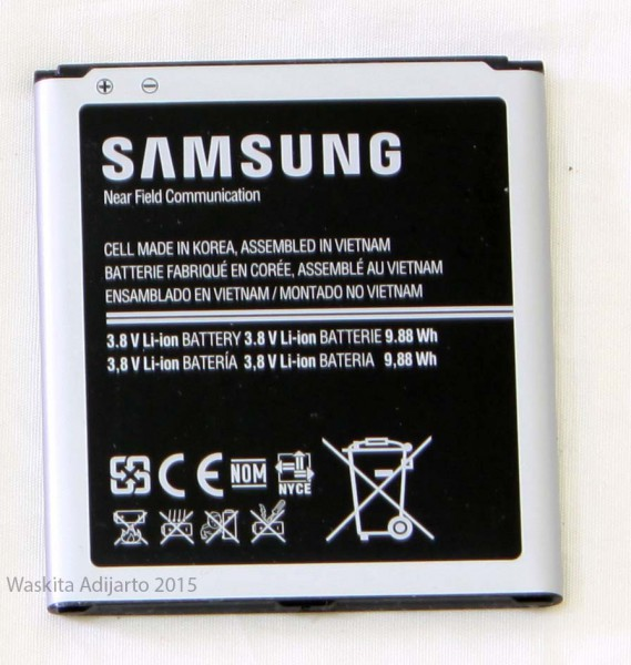 Batere smartphone Samsung Galaxy S4 3.8 volt 9.88 Wh