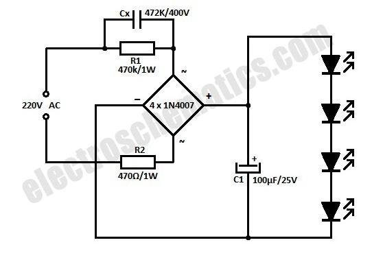 Rangkaian LED 220 volt