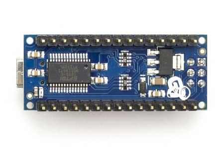 Arduino Nano V3 asli tampak bawah