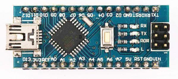 Arduino Nano V3 clone tampak atas