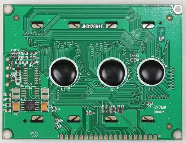 LCD Matrix JHD12864E bagian belakang