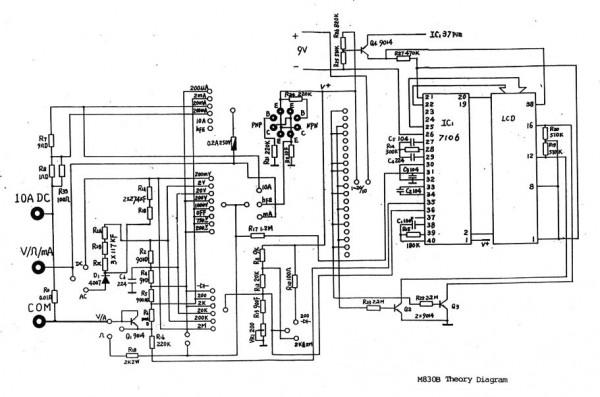 Skema rangkaian Nankai DT830B schematic
