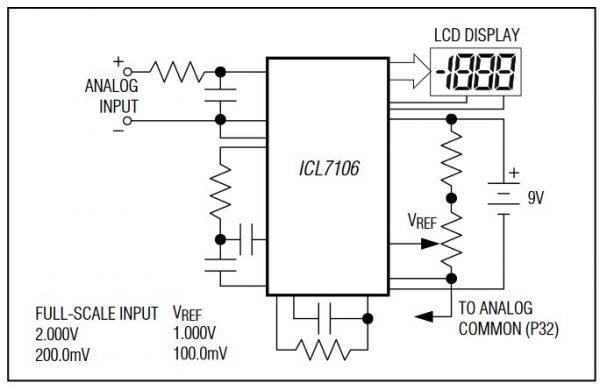 Rangkaian sederhana ICL7106