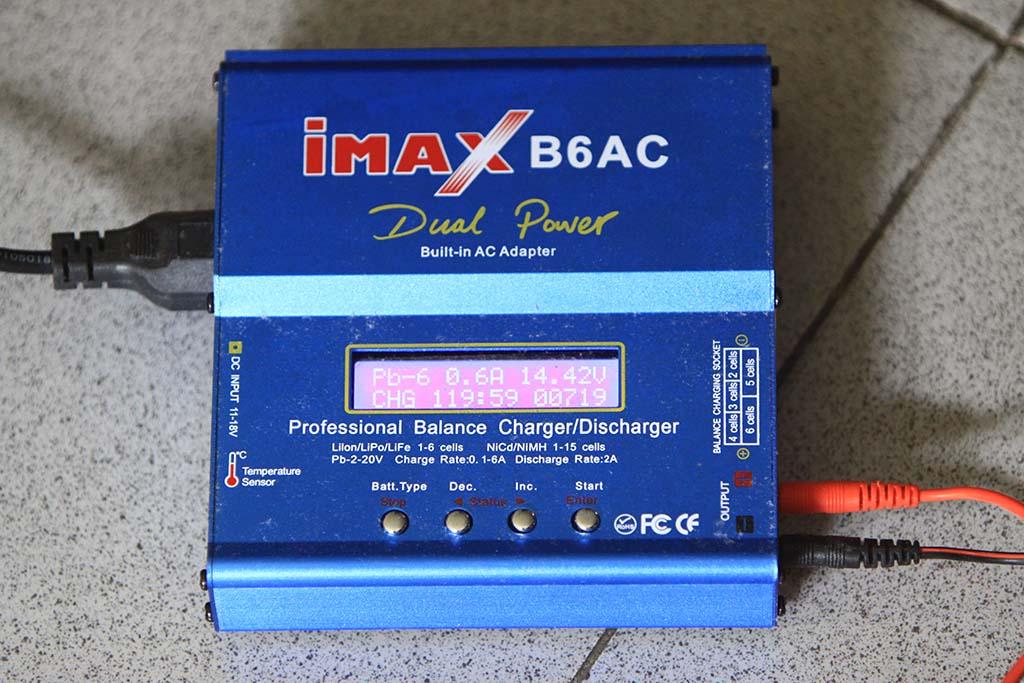 IMAX B6AC dengan setting Pb (aki timah hitam)