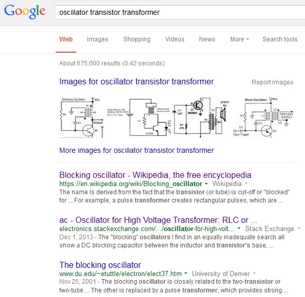 Pencarian oscillator transistor transformer