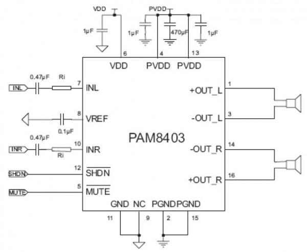 Rangkaian PAM8403