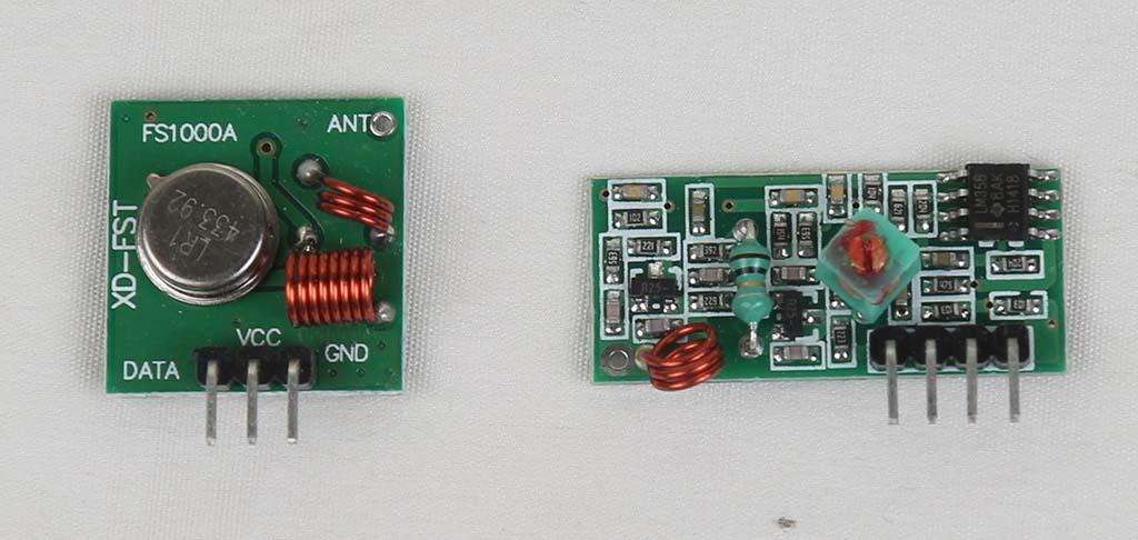 XD-RF-5V 433 MHz Wireless RF Transmitter and Receiver Kit