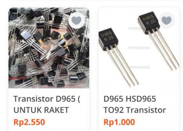 Transistor D965 populer sebagai transistor raket nyamuk