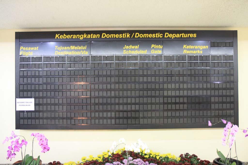 Display LED Matrix Bandara Hasanuddin Makassar