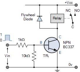 Relay dengan transistor NPN