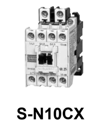 Penampakan kontaktor Mitsubishi S-N10CX menurut datasheet
