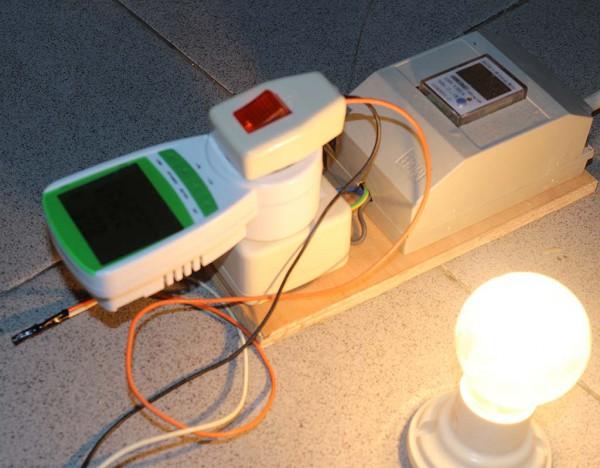 Pengujian lampu 100 watt