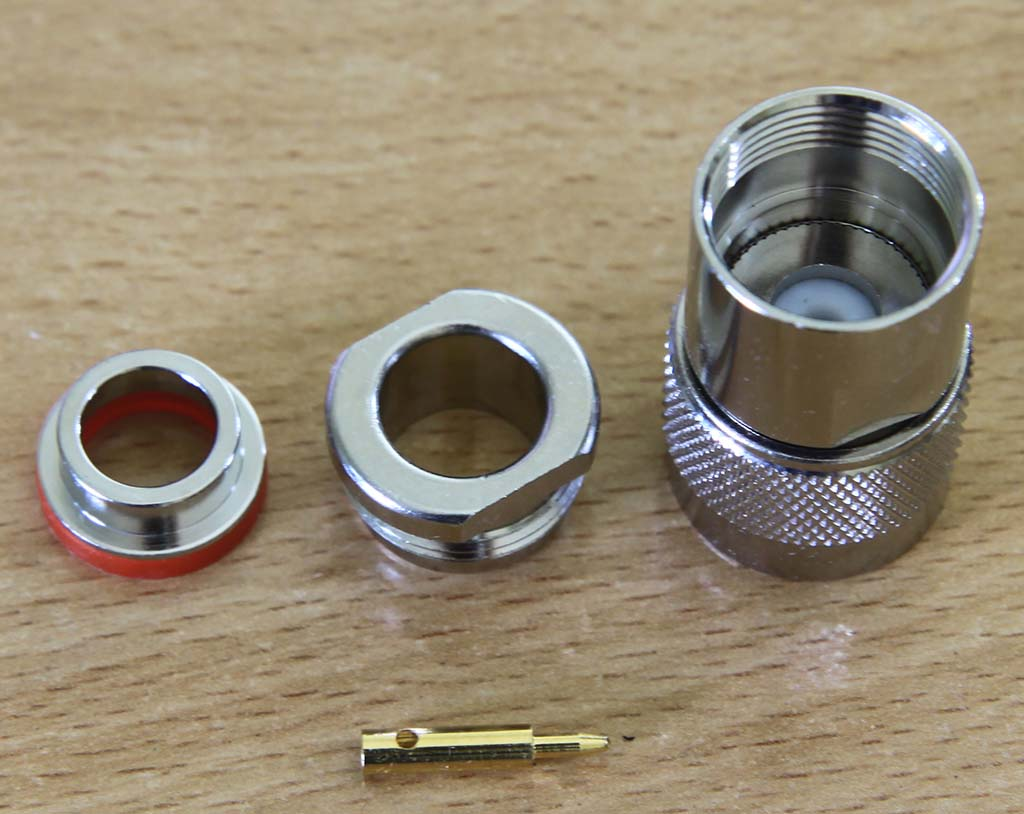 N Connector male to RG8 clamp
