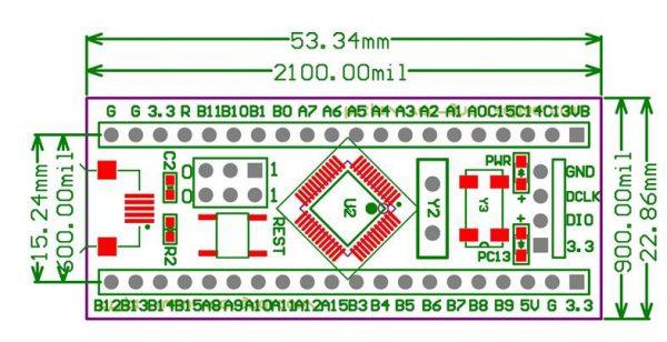 Layout PCB STM32F103