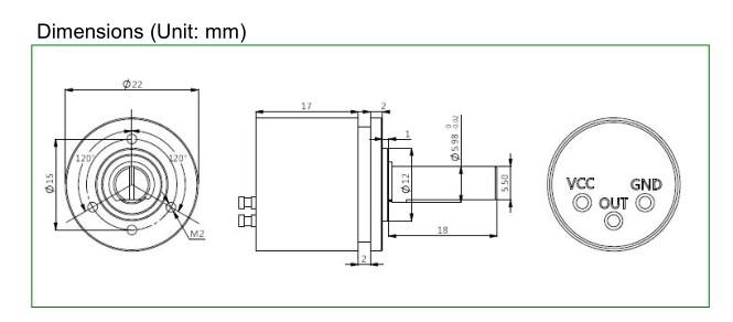 P3022-V1-CW360 Dimensi
