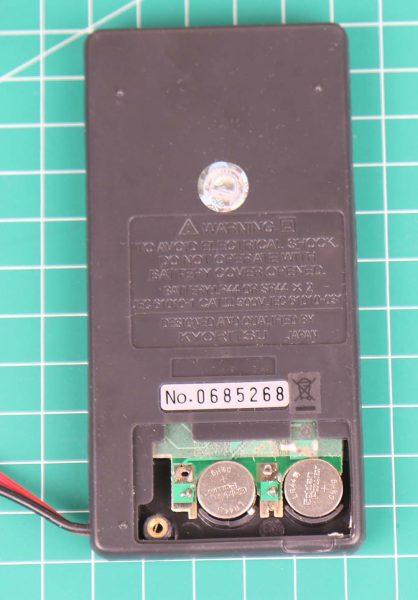 Kyoritsu KEW 1018 tampak belakang dengan 2 buah baterai