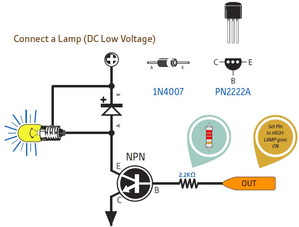 Penguat output digital dengan transistor NPN