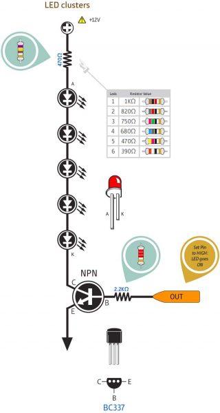 Penguat arus digital dengan transistor NPN