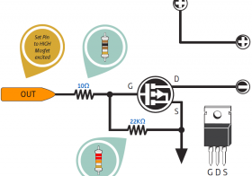 Output Digital Mikrokontroler Dengan MOSFET