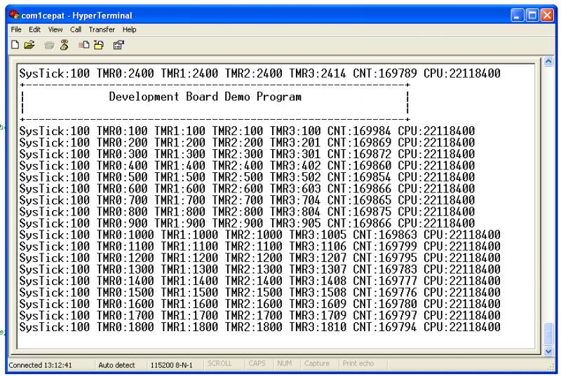Diagnostic pada Nuvoton NU-LB-NUC140