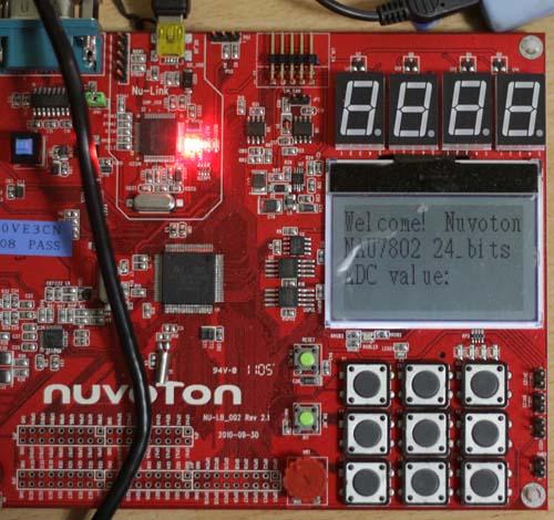 Demo NAU7802 Nuvoton NU-LB-NUC140