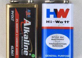 Batere 9 volt berapa mAh?
