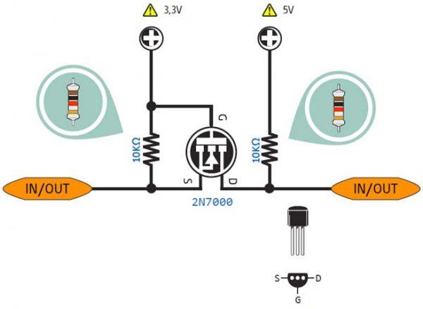 Bidirectional level converter