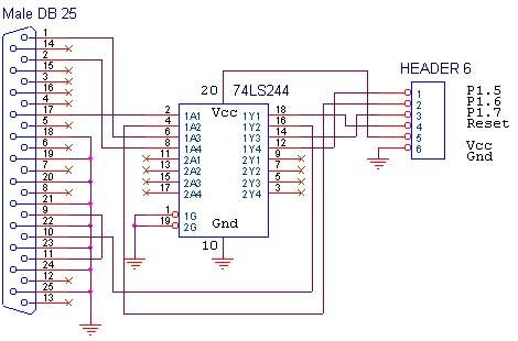 Programmer MCS51 dengan buffer 74LS244