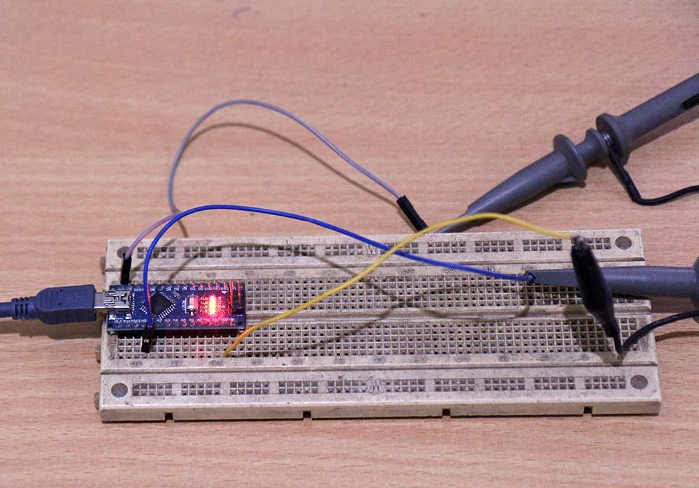 Pengukuran sinyal pada Arduino nano (ATmega328)