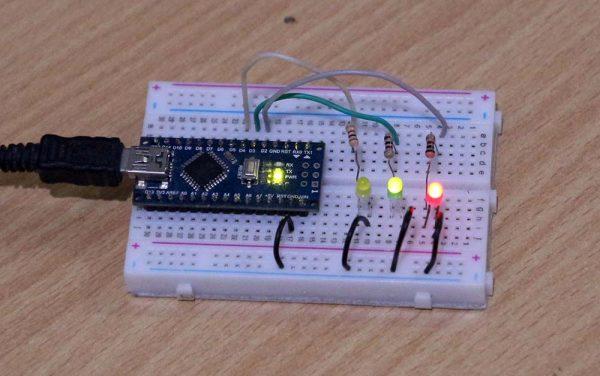 Arduino with LED flashing
