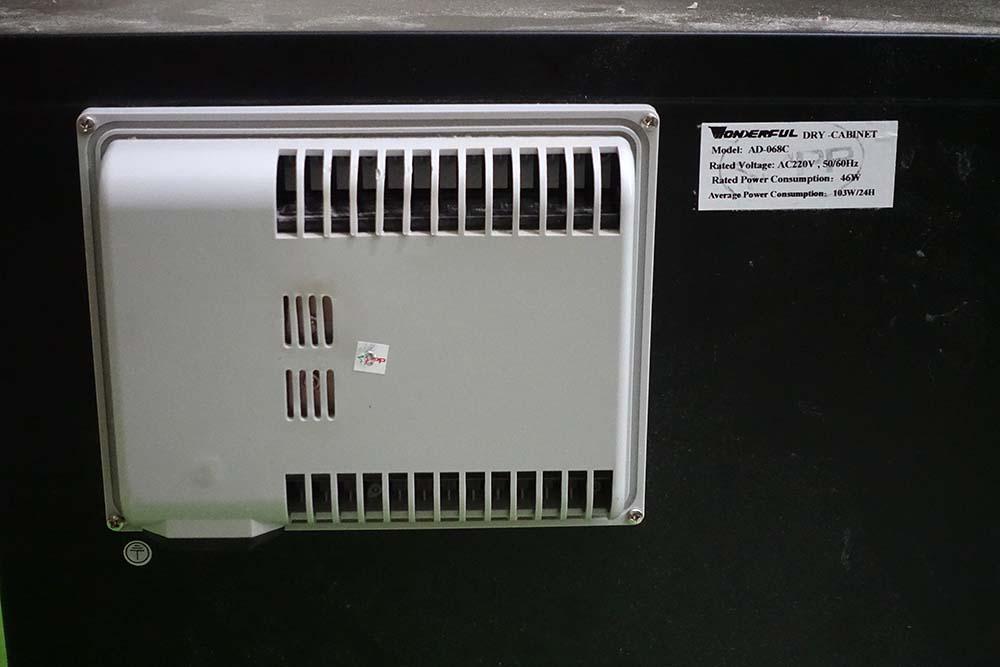 wonderful dry box dehumidifier bagian belakang wadah