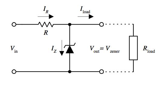 Regulator tegangan dengan dioda zener