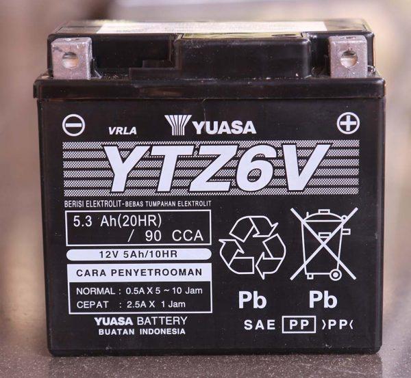 Aki Yuasa YTZ6V tampak depan
