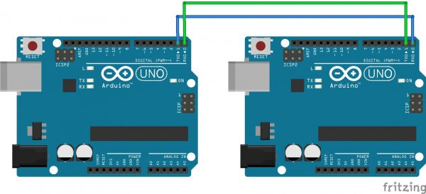 Cara menghubungkan 2 arduino dengan komunikasi asinkron