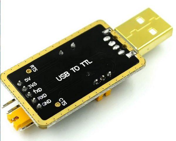 Modul USB to Serial TTL CH340 tampak bawah