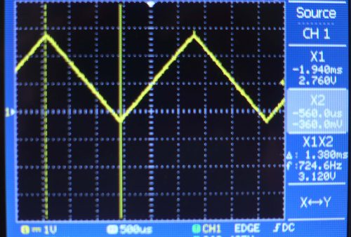 Sinyal output dari DAC pada ESP32