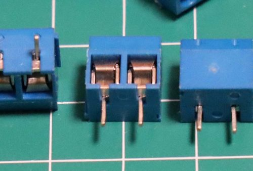 Terminal PCB block screw warna biru