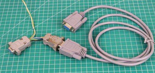 Kabel serial untuk Weintek MT6071iP diperpanjang dengan kabel straight