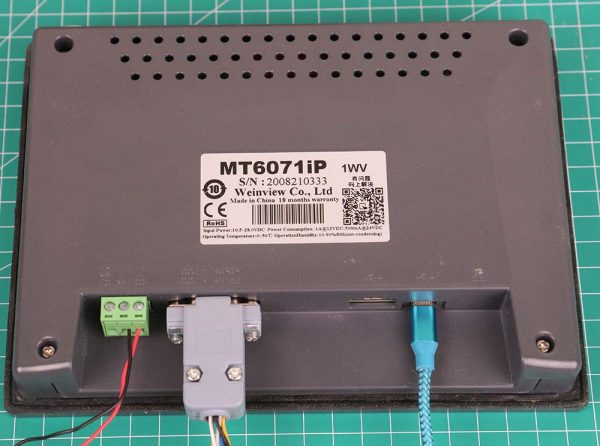 Weintek MT6071iP dengan kabel serial