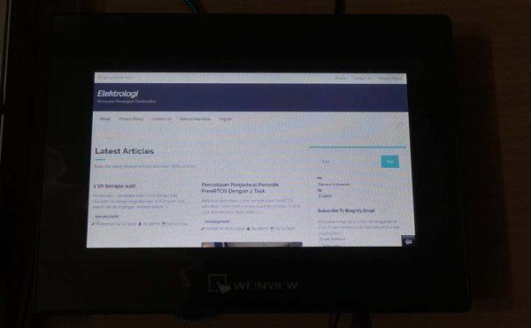 Menguji tampilan dengan screencapture website Elektrologi