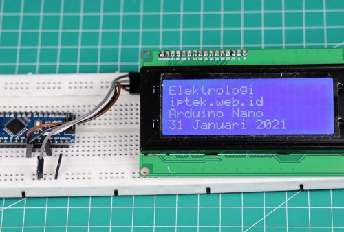 Arduino Nano dengan display lCD 20x4