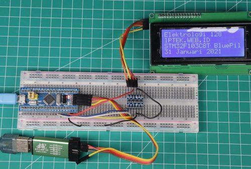 STM32 dengan display LCD 20x4
